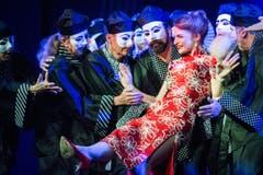 Premiere der Operette «Viktoria und ihr Husar» im Gemeindezentrum Dreitannen in Sirnach, im Bild: Viktoria (Ramona Holy). (Bild: Benjamin Manser)