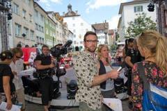 Mikrofonerprobt: Nik Hartmann. (Bild: Ralph Ribi)
