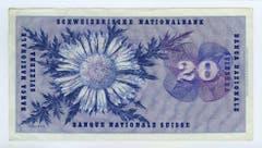 ...hinten ist eine Silberdistel abgebildet. (Bild: Archiv der SNB)
