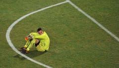 Die Einsamkeit des Goalies: Diego Benaglio nach dem Vorrunden-Aus an der WM 2010 in Südafrika. (Bild: Keystone)