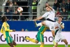 Marco Mathys am Ball. (Bild: Michel Canonica)