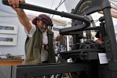 Am Mittelaltermarkt gab es auch eine alte Presse zu bewundern. (Bild: Reto Martin)