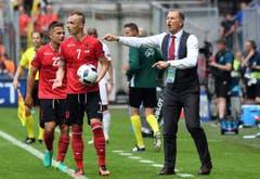 Der albanische Coach Gianni De Biasi. (Bild: Keystone)