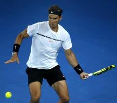 Der Spanier Rafael Nadal in action. (Bild: Keystone)