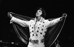 Elvis Presley tritt im Juni 1972 im Madison Square Garden in New York auf. (Bild: Keystone)