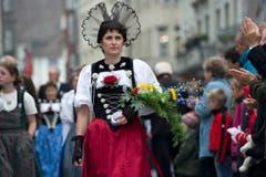 Die Bernische Trachtenvereinigung (Bild: Urs Jaudas)