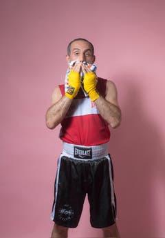Amateur Maziar Hosseinpour Gohari, Jahrgang 1979, Boxing Club Luzern. (Bild: Benjamin Manser und Urs Bucher)