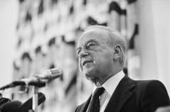 Yitzhak Rabin war israelischer Ministerpräsident von 1974 bis 1977 und nochmals von 1992 bis zu seiner Ermordung im Jahre 1995. (Bild: Keystone)