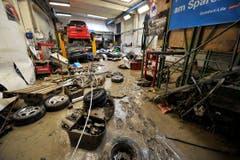 Eine Garage in der «Unteren Fabrik». (Bild: Michel Canonica)