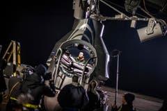 Auf den Rekordsprung hat sich Baumgartner fünf Jahre vorbereitet, hier bei einem Test in der Ballonkapsel. (Bild: Keystone)