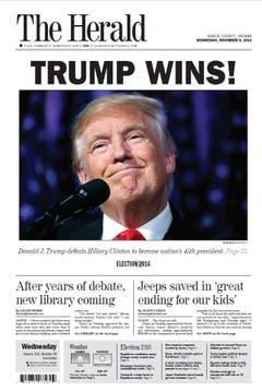 "Die amerikanische Zeitung ""The Herald"". (Bild: Printscreen)"
