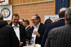 Peter Kummer, Präsident von Volley Amriswil, beim VIP-Apéro. (Bild: Manuel Nagel)