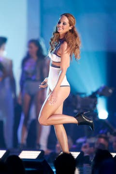 Die neue Miss Schweiz im Badeanzug. (Bild: Keystone)