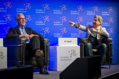 Ulrich Spiesshofer (ABB) und Nick Hayek (Swatch) (Bild: Urs Bucher)