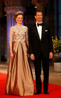 Prinz Alois und Prinzessin Sophie von Liechtenstein nahmen auch am Abschiedsdinner teil. (Bild: Keystone)