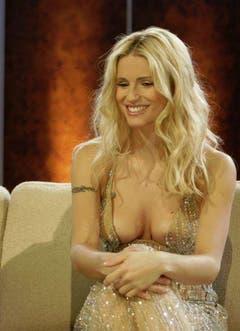 """Michelle Hunziker in der TV-Show """"Wetten, dass...?"""". (Bild: Keystone)"""