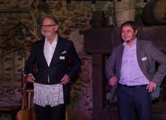 Hermann Hess (links) bekam sogar eine Unterhose geschenkt. (Bild: Andrea Stalder)