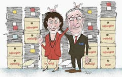 Hatte Tom geahnt, was da noch kommen wird? Seine Legende: Die Schweiz und die EU verhandeln wieder miteinander (9. April 2017). (Bild: Tom Werner)