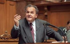 Bundesrat Otto Stich am 21. September 1994 bei einem Votum in der Herbstsession im Ständerat. (Bild: Keystone)