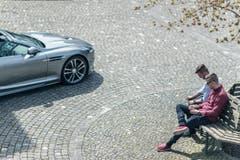 """Designer Mathias Müller aus Roggwil veranstaltete einen Mode-Nachmittag, an dem er Neuheiten seiner Marke """"Royal Sunday"""" vorstellte. (Bild: Michel Canonica)"""