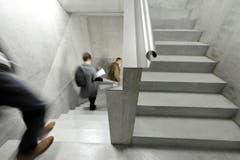 Im Treppenhaus. (Bild: Hanspeter Schiess)