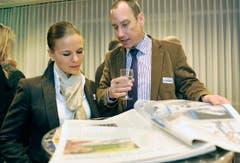 Christian Neuweiler, Präsident des Arbeitgeberverbandes Kreuzlingen und Umgebebung, mit Gattin Denise. (Bild: Reto Martin)