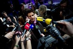 Grosses Medieninteresse: Nach der Wahl will jeder etwas vom neuen Mister Schweiz. (Bild: Keystone)
