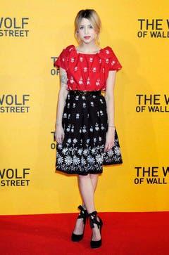 Am 9. Januar 2014 erscheint Peaches Geldof zur Kinopremiere von«'The Wolf of Wall Street» in London. (Bild: Keystone)