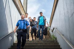 Am Bahnhof in Buchs werden Flüchtlinge erwartet (Bild: Urs Bucher)