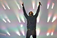 Drake bei seinem Auftritt im Lichtermeer. (Bild: Reto Martin)