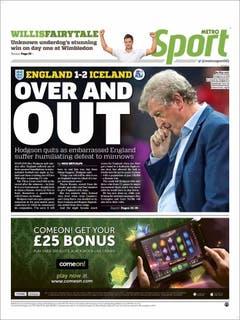 Metro Sport. (Bild: Printscreen)