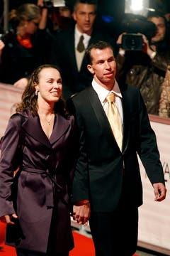 Kurzes Glück: Im November 2006 verlobten sich Martina Hingis und der tschechische Tennisspieler Radek Stepanek, 2007 trennte sich das Paar. (Bild: Keystone)