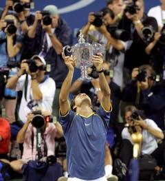 2005 US Open gegen André Agassi (USA) 6:3, 2:6, 7:6, 6:1 (Bild: Andrew Gombert / Keystone)