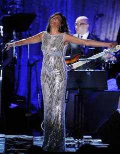 Whitney Houston bei einer Gala vor der Grammy-Verleihung 2011 in Los Angeles. Gerüchte kursieren, dass die Sängerin wieder Drogen nimmt. (Bild: Keystone)