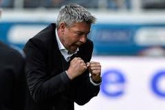 In seiner bisherigen Trainerkarriere hatte Urs Fischer viel Grund zum Jubeln - auch beim FC Basel? (Bild: Keystone)
