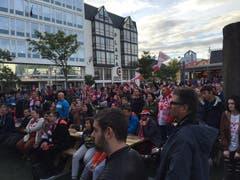 Auch in Island sind Public Viewings zur EM beliebt. (Bild: Marion Loher)
