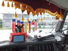 Am Steuer dieses Sattelschleppers sass ein Weissrusse - die Polizei stoppte den Mann in Kreuzlingen. (Bild: Kantonspolizei Thurgau)