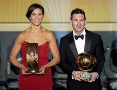Die beiden Besten: Carli Lloyd und Lionel Messi. (Bild: Keystone)