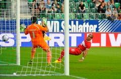 Der Ball ist drin - 0:1. (Bild: Urs Bucher)