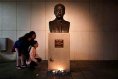 Die Gedenkstätte Rabins auf dem Rabin-Platz in Tel Aviv. (Bild: Keystone)