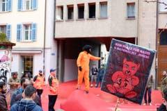 Demo der Linken. (Bild: Stefan Bogner)