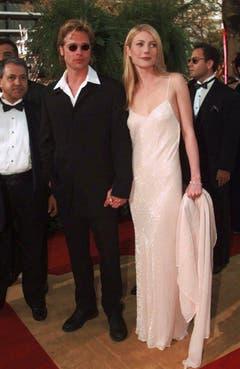 """Nach dem Beziehungsende mit Juliette Lewis hat Brad Pitt bald eine neue Frau an seiner Seite: Schauspielerin Gwyneth Paltrow. Das Paar lernte sich bei den Dreharbeiten zum Thriller """"Seven"""" kennen. (Bild: Keystone)"""