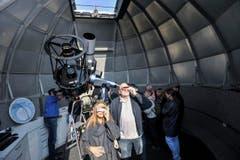 In der Sternwarte Bernrain. (Bild: Donato Caspari)