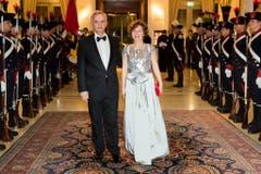 ... wie auch Bundesrat Didier Burkhalter mit seiner Frau Friedrun... (Bild: Keystone)