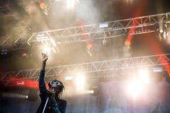 Im Licht der Scheinwerfer: Wiz Khalifa. (Bild: Urs Jaudas)