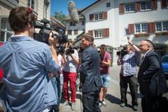 Jan Ullrich lächelte den Fotografen freundlich zu. (Bild: Benjamin Manser)