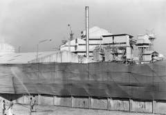 Die Pestizidfabrik des amerikanische Chemiekonzerns Union Carbide, aufgenommen am 14. Februar 1989. (Bild: Keystone)