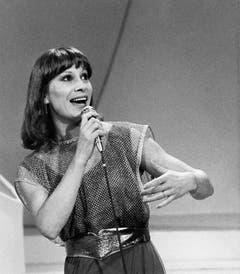 Platz 3, 1982: Arlette Zola mit «Amour, on t'aime», Platz 3 von 18 Teilnehmern. (Bild: Keystone / Str)