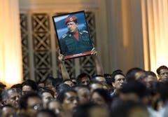 Menschen in Nicaragua gehen für Chávez auf die Strasse. (Bild: Keystone)