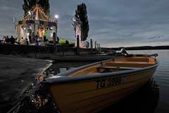 Die Sendung wurde direkt am Bodensee aufgezeichnet. (Bild: Reto Martin)